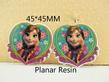 5 x 46MM ARNA ANNA FROM FROZEN HEART LASER CUT FLAT BACK RESIN BOWS HEADBANDS PLAQUES